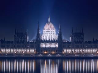 обои взгляд ночной на дворец фото