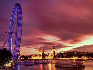 обои Cветится Лондон в ночи фото