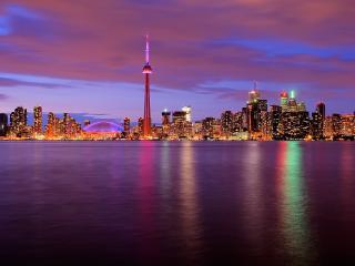обои красиво смотрится город в свете уходящегo дня фото