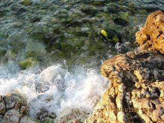 обои У берегов Херсонеса - волны бьют о камни фото