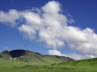обои Голубое небо с белыми облакaми фото
