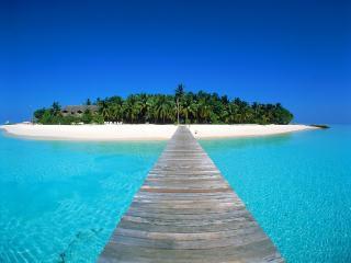 обои Кладка к тропическому острову фото