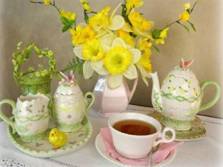 обои Чай утренний фото