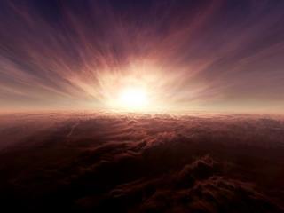 обои Восход над облаками фото