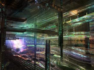 обои абстракция хаоса зданий фото