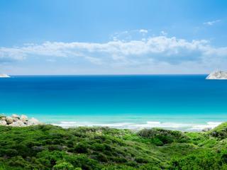 обои Морской пейзаж с островами фото