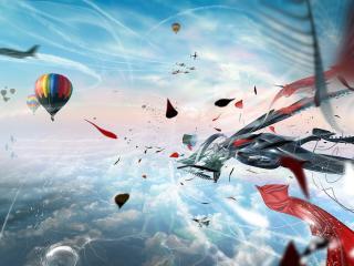 обои абстракция в воздухе фото