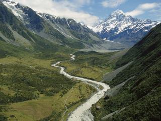 обои Река по широкой долине фото