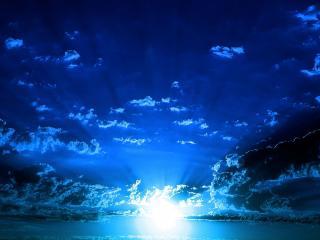 обои Синее небо с облаками фото
