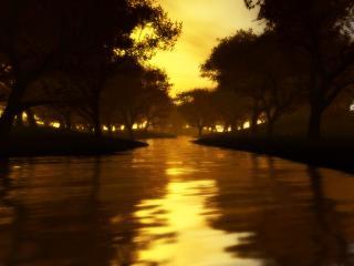 обои Золотой ручей фото