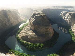 обои Русло реки с извилинами фото