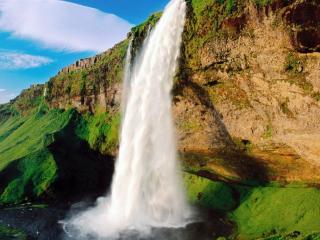 обои Водопад со скaлы фото