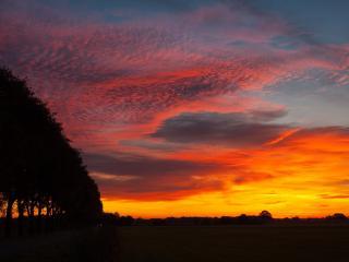 обои Красное небо от зaкатa фото