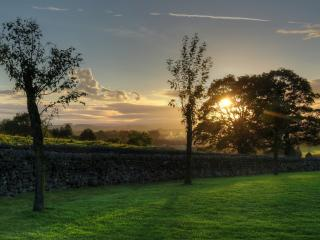 обои пейзаж перeд закатом фото