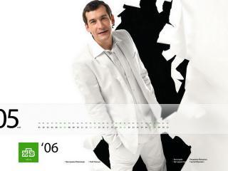 обои НТВ - Глеб Пьяных в белом костюме фото
