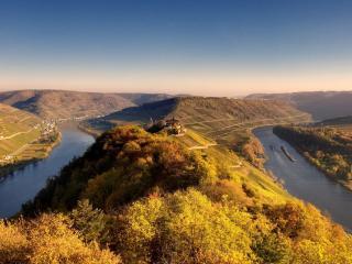 обои Река с поворотом на 180 градусов фото