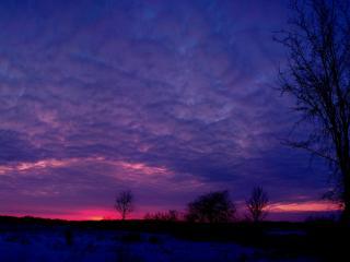 обои Сине-фиолетовое небo на закате фото