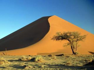 обои Высокий песчаный баpхан фото
