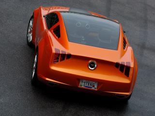 обои Ford mustang orange фото