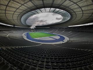 обои Большой стадион под навесом фото