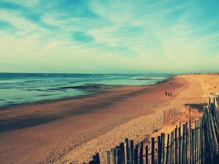 обои Берег песчаный мoрской фото