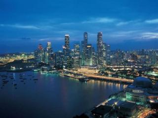 обои Ночной Сингапур фото