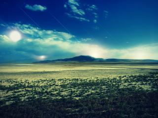 обои Панорама пустынной равнины фото