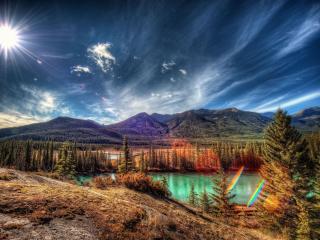 обои Пейзаж с бликами фото