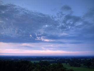 обои Сиреневое небо и сумерки фото
