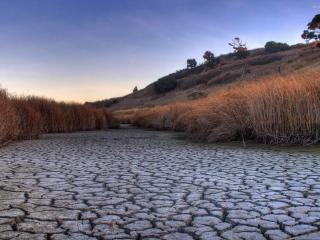 обои Русло реки пересохшее,   без воды фото