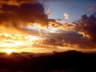 обои Закат выше облаков фото