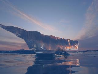 обои Фигура из льда фото