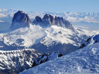 обои Зима в горной местности фото
