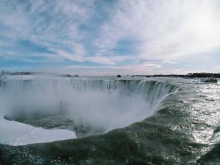 обои Большой полукруг водопадов фото