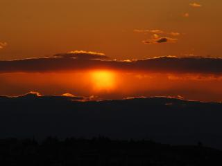 обои Красный закат на небе фото