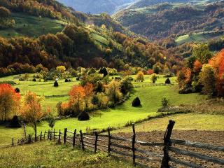 обои Огород на горном склоне фото