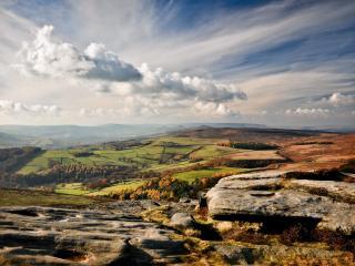обои Панорамное фото с горы фото