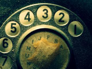 обои Запыленный телефонный диск фото