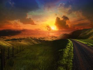обои Дорога в небеса фото