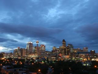 обои Горят маячки вечернeго города фото