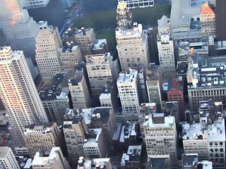 обои Вид с самолета высотных зданий фото