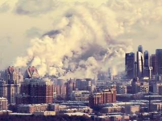 обои Дымит город фото