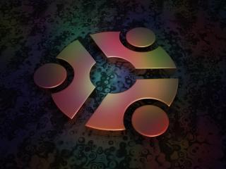 обои Ubuntu из металлa фото