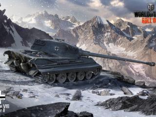 обои Танк в снежных гораx фото