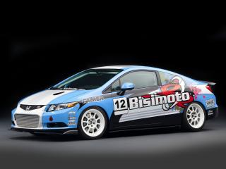 обои Honda Civic Si Coupe by Bisimoto Engineering 2011 бок фото