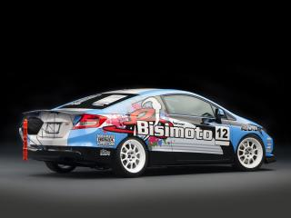 обои Honda Civic Si Coupe by Bisimoto Engineering 2011 сбоку фото