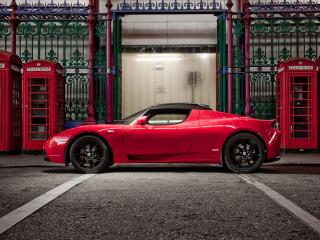 обои Tesla Roadster Sport UK-spec 2009 будки фото