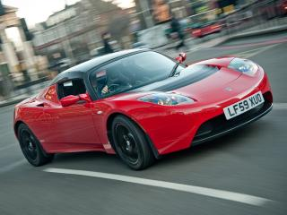 обои Tesla Roadster Sport UK-spec 2009 мощная фото