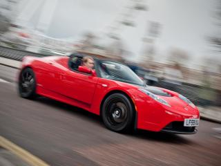 обои Tesla Roadster Sport UK-spec 2009 мощь фото