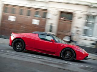обои Tesla Roadster Sport UK-spec 2009 сила фото